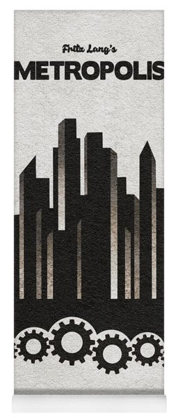 Fritz Lang's Metropolis Alternative Minimalist Movie Poster Yoga Mat