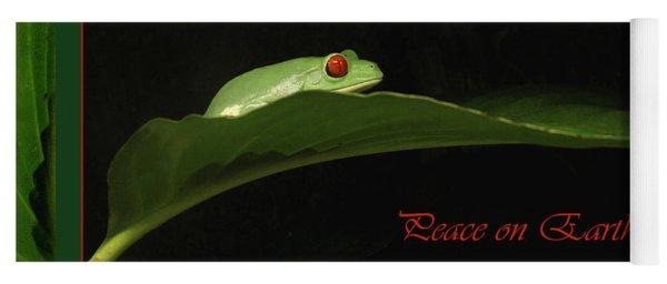 Frog Holiday Card And Mug Yoga Mat