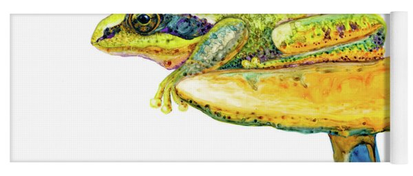 Frog Sitting On A Toad-stool Yoga Mat