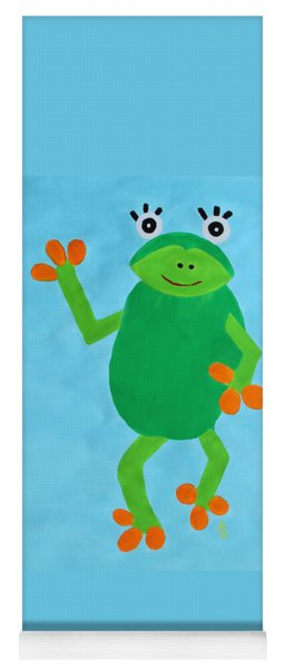 Yoga Mat featuring the painting Froggie by Deborah Boyd