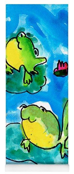 Frogs Yoga Mat