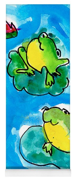 Frogs Yoga Mat