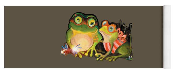 Frogs Transparent Background Yoga Mat