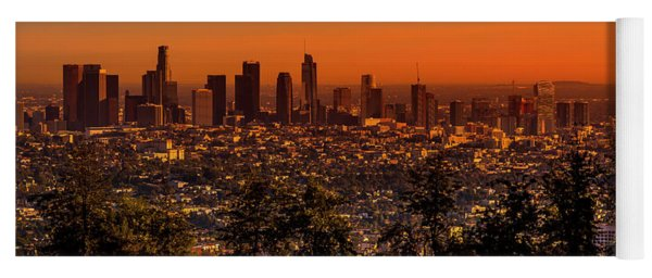 From Mount Hollywood To Los Angeles Yoga Mat