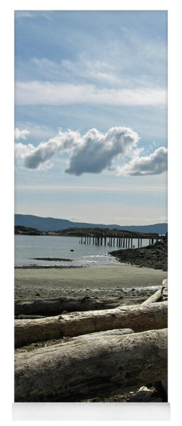 from the shore at Powell River Yoga Mat