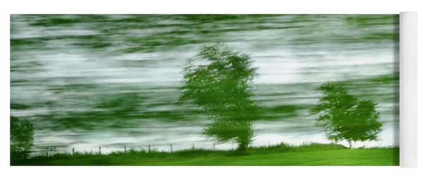 Yoga Mat featuring the photograph heading north of Yorkshire to Lake District - UK 2 by Dubi Roman
