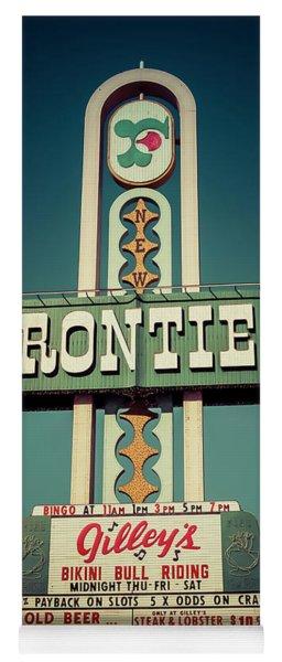 Frontier Hotel Sign, Las Vegas Yoga Mat