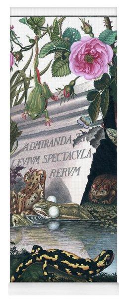 Frontis Of Historia Naturalis Ranarum Nostratium Yoga Mat