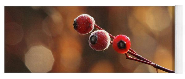 Frosted Rose Hips Yoga Mat