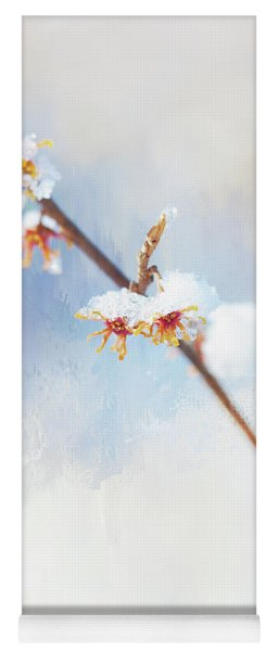 Frosted Witch Hazel Blossoms  Yoga Mat