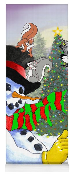 Frosty And Friends Yoga Mat