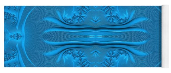 Frosty Ice On The Lake Waters Fractal Abstract Yoga Mat