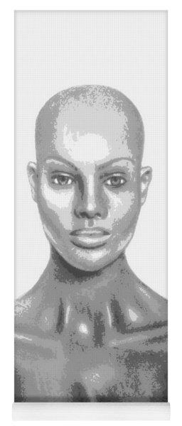 Bald Superficial Woman Mannequin Art Drawing  Yoga Mat