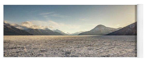 Frozen Fjord Sunrise Yoga Mat