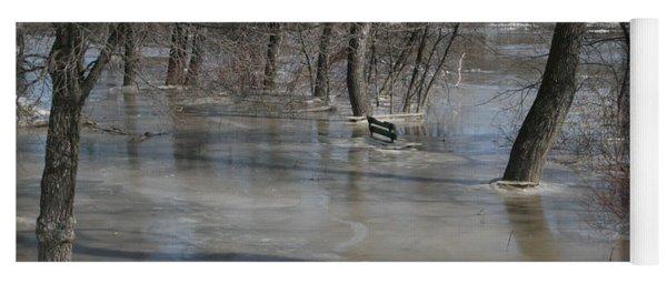 Frozen Floodwaters Yoga Mat