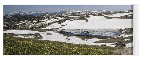 Yoga Mat featuring the photograph Frozen Lake  Beartooth Highway by Gary Beeler