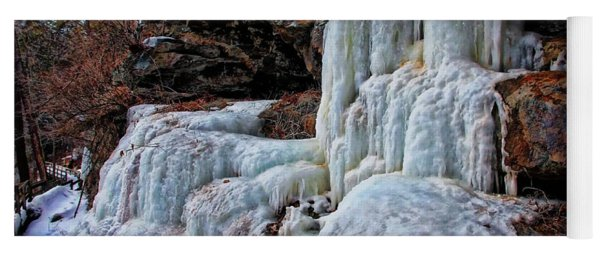 Frozen Waterfall Yoga Mat