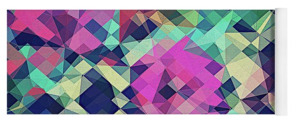 Fruity Rose   Fancy Colorful Abstraction Pattern Design  Green Pink Blue  Yoga Mat