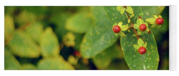 Fall Berry Yoga Mat
