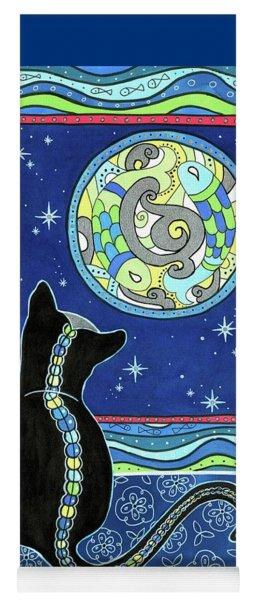 Pisces Cat Zodiac - Full Moon Yoga Mat