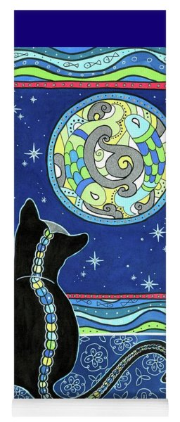 Pisces Cat Zodiac - Full Moon Yoga Mat