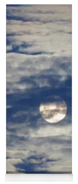 Full Moon In Gemini With Clouds Yoga Mat