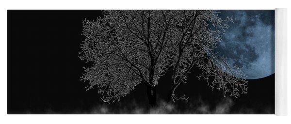 Full Moon Over Iced Tree Yoga Mat