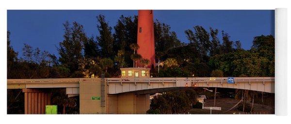 Full Moon Over Jupiter Lighthouse, Florida Yoga Mat
