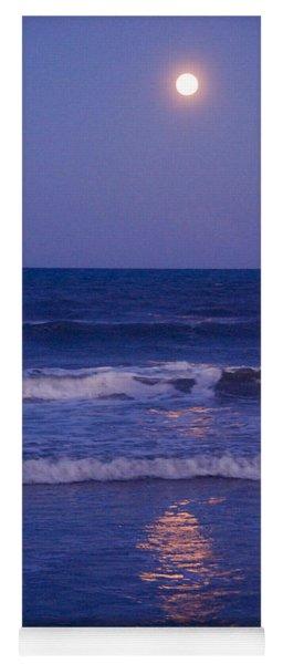 Full Moon Over The Ocean Yoga Mat