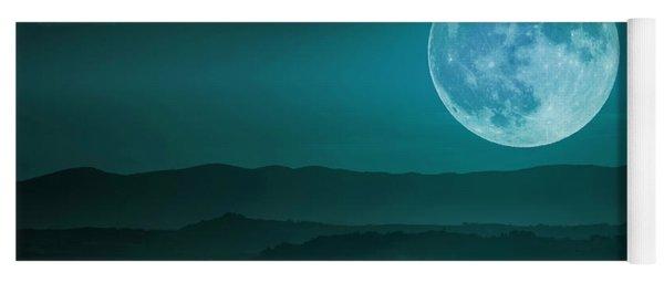 Full Moon Over Tuscany Yoga Mat