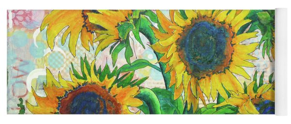 Funflowers Yoga Mat