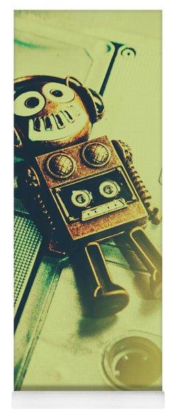 Funky Mixtape Robot Yoga Mat