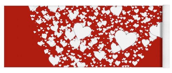 Funny Valentine Heart Art Yoga Mat