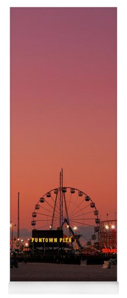 Funtown Pier At Sunset II - Jersey Shore Yoga Mat