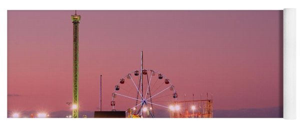 Funtown Pier At Sunset IIi - Jersey Shore Yoga Mat