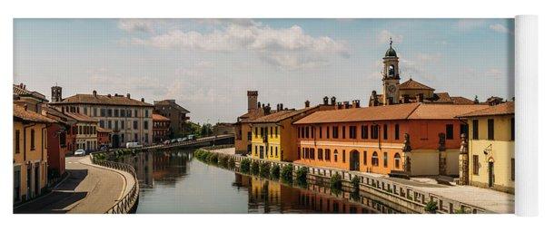 Gaggiano On The Naviglio Grande Canal, Italy Yoga Mat