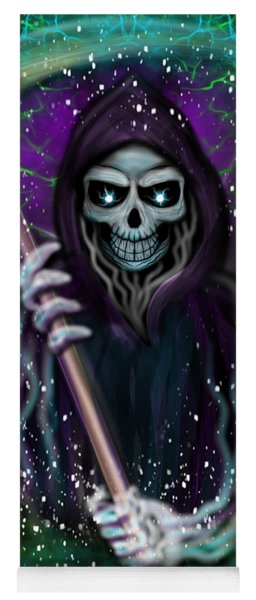 Galaxy Grim Reaper Fantasy Art Yoga Mat