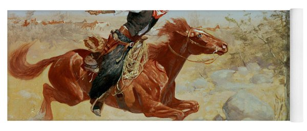 Galloping Horseman Yoga Mat