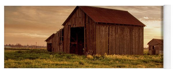 Galt Barn At Sunset Yoga Mat