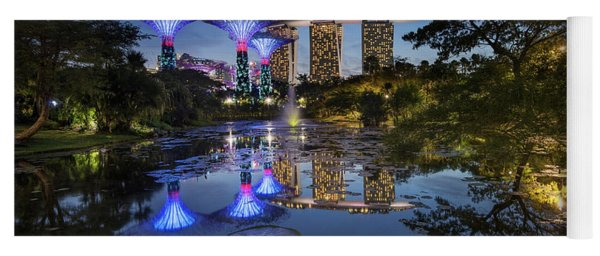 Yoga Mat featuring the photograph Garden By The Bay, Singapore by Pradeep Raja Prints