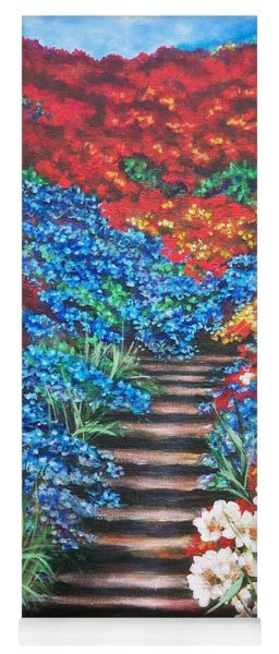 Red White And Blue Garden Cascade.               Flying Lamb Productions  Yoga Mat