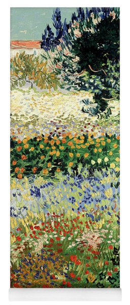 Yoga Mat featuring the painting Garden In Bloom by Van Gogh