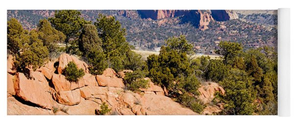 Garden Of The Gods And Springs West Side Yoga Mat