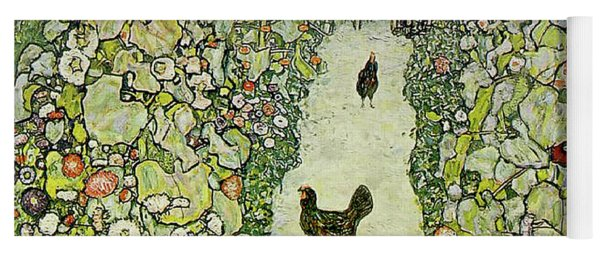 Garden With Chickens Yoga Mat