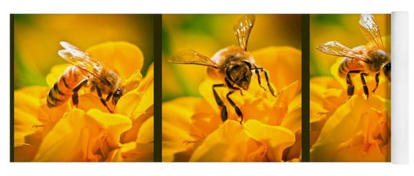 Gathering Pollen Triptych Yoga Mat