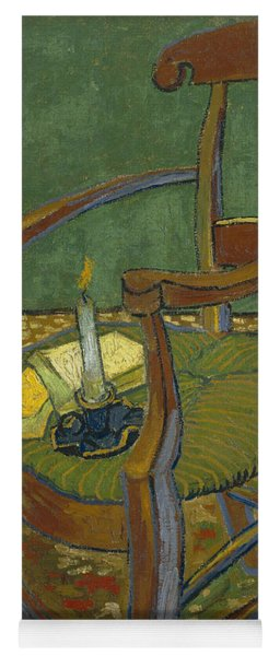 Yoga Mat featuring the painting Gauguin's Chair by Van Gogh
