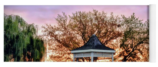 Gazebo Sunrise At Claytor Lake Yoga Mat