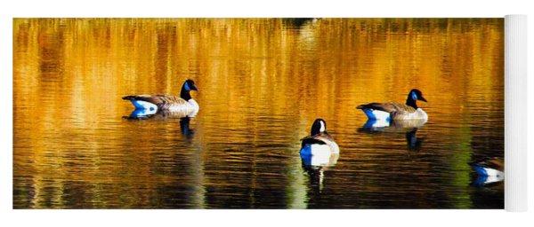 Geese On Lake Yoga Mat