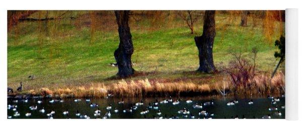 Geese Weeping Willows Yoga Mat