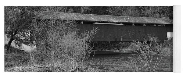 Geiger Covered Bridge B/w Yoga Mat